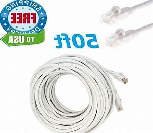 50 Ft Rj45 Cat5 Ethernet Lan Network Cable