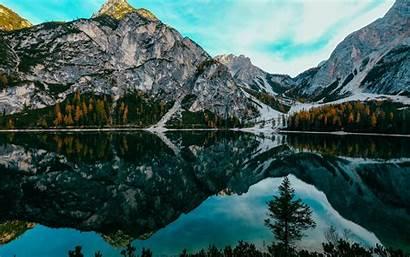 Lake Landscape Mountains Canada Banff National Park