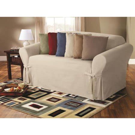 Sofa With Washable Covers by Sure Fit Classic Duck Washable Sofa Slipcover Walmart