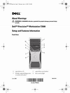 Dell Personal Computer T3500 Users Manual Precision Setup