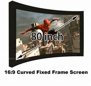 Format 16 9 Berechnen : brand new 80 inch wall mounting projection screen 16 9 format curved fixed frame 3d projector ~ Themetempest.com Abrechnung