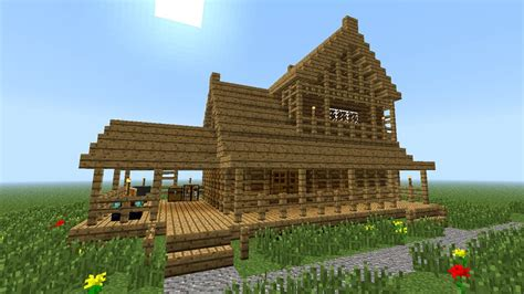 Wooden House In Minecraft - minecraft how to build wooden house 2nd floor