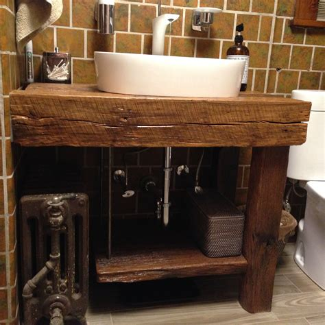 Raw Wood Bar Stools by Hand Crafted Rustic Bath Vanity Reclaimed Barnwood By