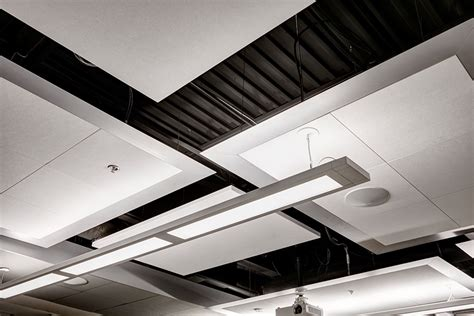 Rockfon Planar Linear Ceilings by Ce Center Designing With Metal Ceilings