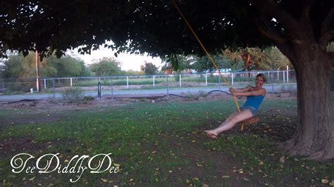 diy  rope tree swing teediddlydee