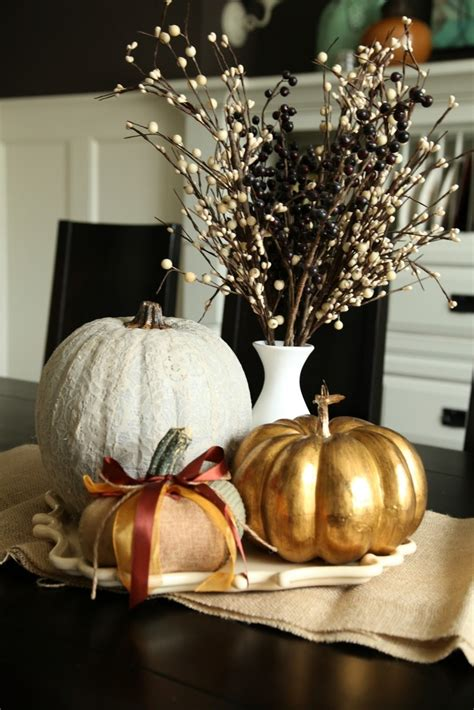 fall dining table decorations 40 amazing fall pumpkin centerpieces digsdigs