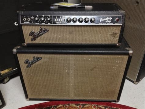 Fender Bassman Cabinet Serial Numbers by Fender Tremolux Guitar Amplifier Head And Cabinet 1966