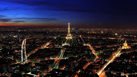 wallpaperwiki paris france night top view city lights