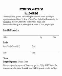 8 room rental agreement form samples sample templates With room for rent agreement template free