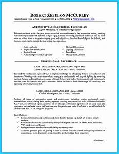 writing a concise auto technician resume With automotive resume