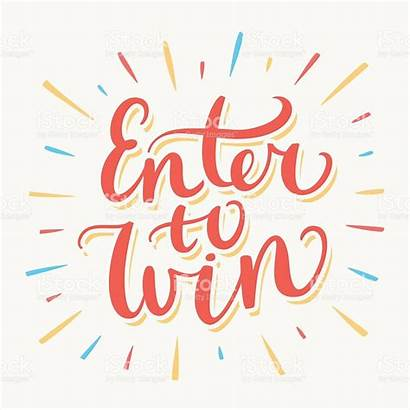 Win Enter Draw Banner Vector Hand Graphics