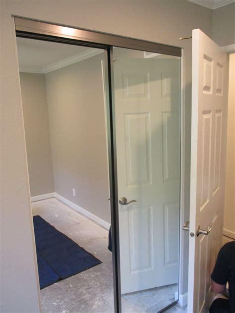 brushed nickel contractors wardrobe trimline bypass closet