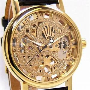 Rolex Transparent Back Golden Watch Called Skeleton Watch