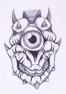 Cyclop Gargoyle Head by soulsweeper on DeviantArt
