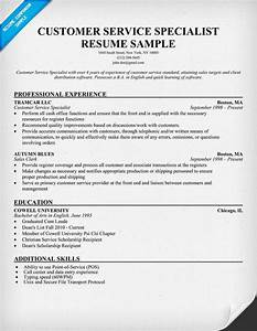 Customer Service Manager Sample Resume Customer Service Specialist Resume Resumecompanion Com