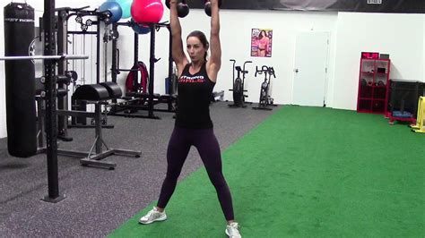 kettlebell double squat press
