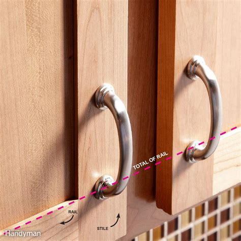 diy kitchen cabinet handles how to install cabinet hardware the family handyman 6819