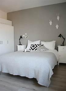 Mur Blanc Et Gris : murs et ameublement chambre tout en gris tendance ~ Preciouscoupons.com Idées de Décoration