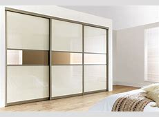 White sliding doors applied on sliding wardrobe doors