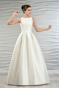 Brautkleid Vintage Schlicht : satin brautkleid mit kellerfalten liebe verlobung ~ Watch28wear.com Haus und Dekorationen