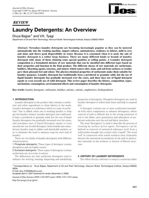 laundry detergents  overview