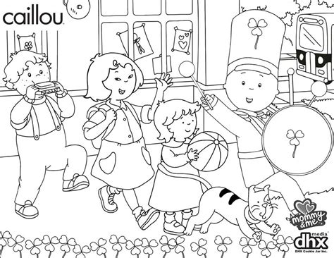 Caillou Gilbert Coloring Pages