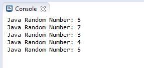 generate random number in java in a range the programmer