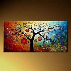 Modern Abstract Huge Canvas Wall Oil Painting-TREE 48X24 ...