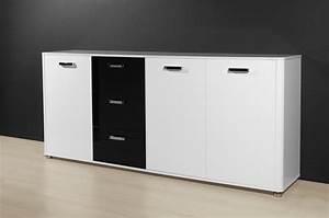 Sideboard Schwarz Weiß Hochglanz : sideboard mod k596 2 weiss schwarz hochglanz lack h c m bel ~ Bigdaddyawards.com Haus und Dekorationen