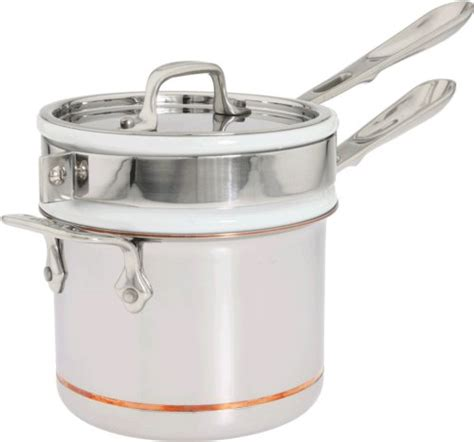 clad ss copper core  ply bonded dishwasher safe porcelain double boiler insert