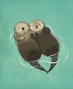 """Significant Otters - Otters Holding Hands"" Posters by"