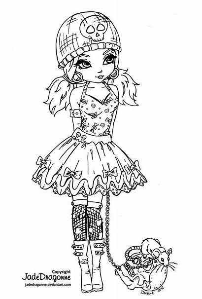Coloring Gothic Pages Fairy Printable Fairies Emo