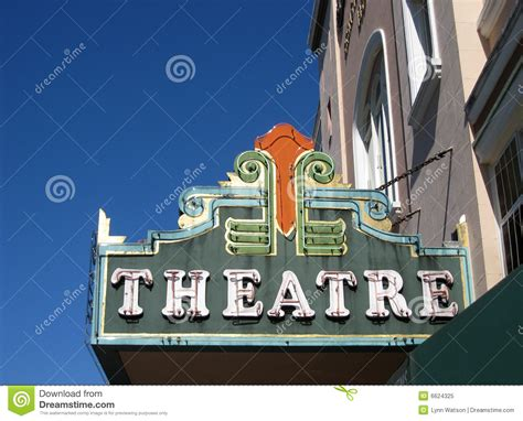 vintage theater marquee sign stock image image of restore drama 6624325