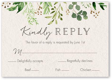 Botanical Union Wedding Response Card (With images