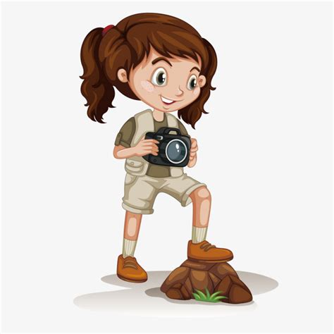 girl holding  camera girl vector camera vector camera