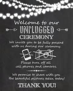 chalkboard wedding sayings unplugged ceremony wedding sign unplugged wedding sign