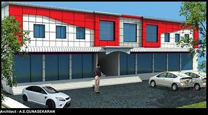 3D elevation design of commercial complex GharExpert