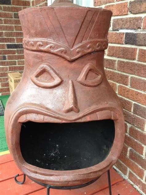 Tiki Chiminea For Sale by Tiki Chiminea Tiki Central Was For Sale At Menard S
