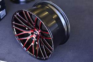 20 U0026quot  Staggered Str Wheels 615 Black With Red Rims  Str009