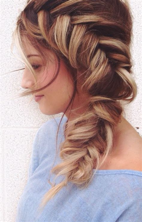 Pretty Hairstyles by Side Fish Braid Hair Hair Hair Styles Hair Styles