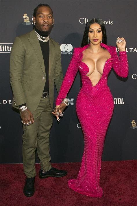 Offset Gets Handsy With Cardi B on the Red Carpet at Pre ...
