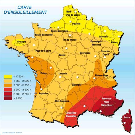 Carte Ensoleillement by Meteo10 Carte D Ensoleillement En Heures Par Region
