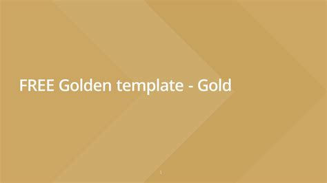 Free Template by Slideist Free Golden Powerpoint Template