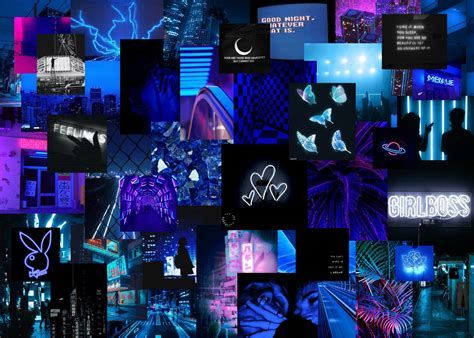neon blue aesthetic laptop wallpaper aesthetic desktop