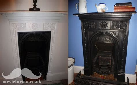 painting cast iron fireplace white restoring an iron fireplace to or to paint mr