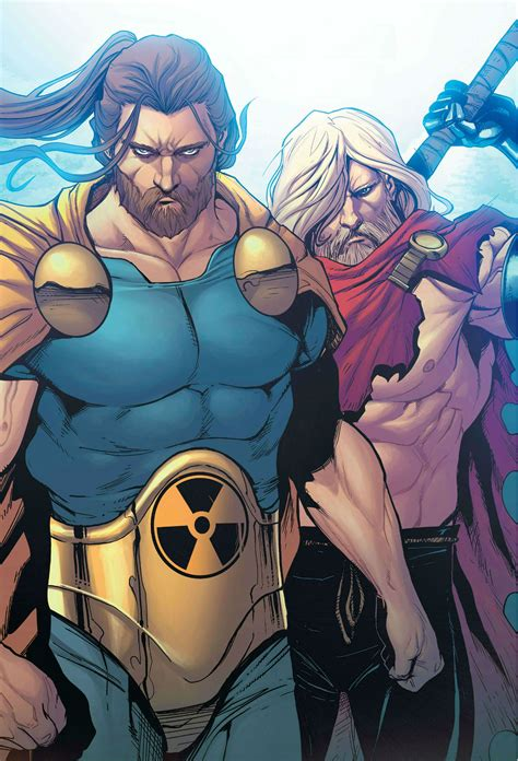 Hyperion and Thor by Stefano Caselli | Marvel comics art ...
