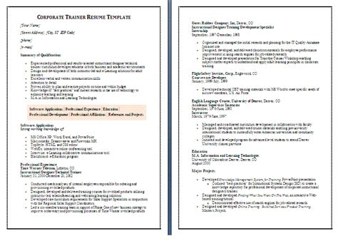 Resume Objective For Call Center Trainer by Resume 57 Trainer Resume Sle Skills On Resume Athletic Trainer Resume Sle