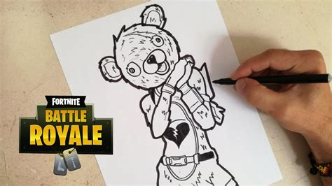 como dibujar al oso amoroso fortnite cunsart youtube
