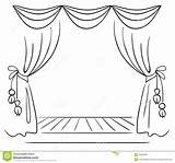 Stage Theater Sketch Vector Background Performance Illustration sketch template