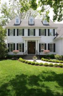 Colonial Home White Colonial House Traditional Exterior Chicago By Normandy Remodeling